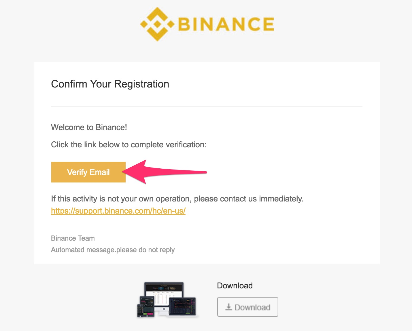 Binance Confirm your registration From 223 218 112 237 2017 11 28 19 12 13 UTC edenlag gmail com Gmail