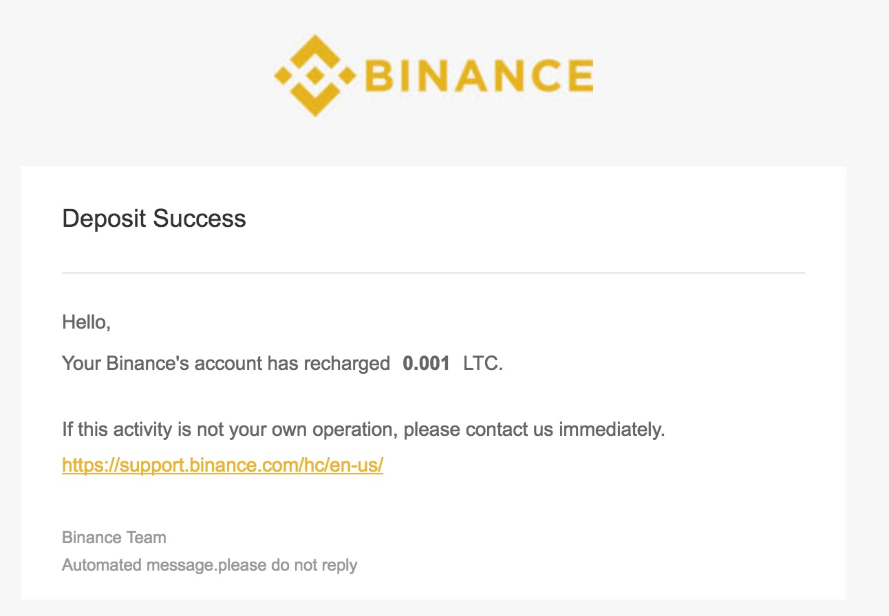 Binance Deposit Success Alerts From 223 218 112 237 2017 12 26 00 39 24 UTC edenlag gmail com Gmail