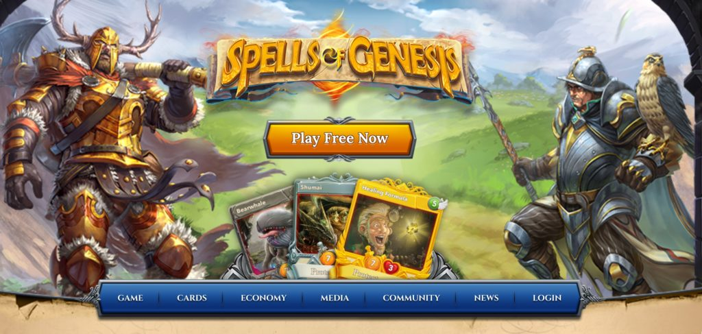 仮想通貨カードゲームSpells of Genesis